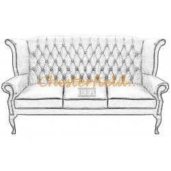 Queen 3er Chesterfield Sofa