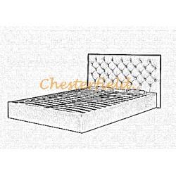 Chesterfield Classic Bett in anderen Farben mit Lattenrost