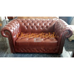 Williams Cognac 2-Sitzer Chesterfield Sofa
