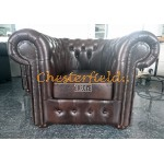 Classic Antikbraun (A5) Chesterfield Sessel
