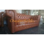 Classic Antikwhisky 3-Sitzer Chesterfield Sofa