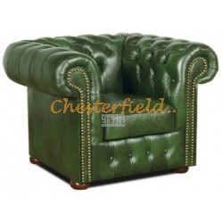 Classic Antikgruen (A8) Chesterfield Sessel