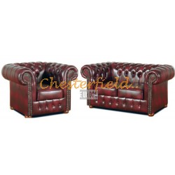 Classic 21 Antikrot Chesterfield Garnitur