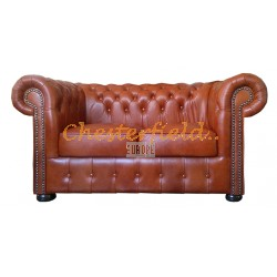 Classic  Haselnuss 2-Sitzer Chesterfield Sofa