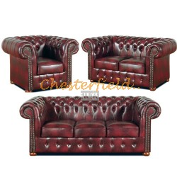 Classic 321 Antikrot Chesterfield Garnitur