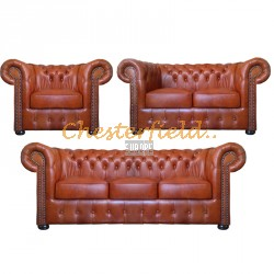 Classic 321 Antikwhisky Chesterfield Garnitur