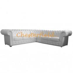 Classic 3+3 Weiß Chesterfield Ecksofa 265cm x 265cm