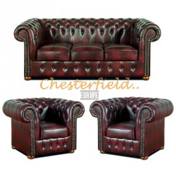Classic 311 Antikrot Chesterfield Garnitur