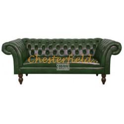 Diva Antikgruen 3-Sitzer Chesterfield Sofa