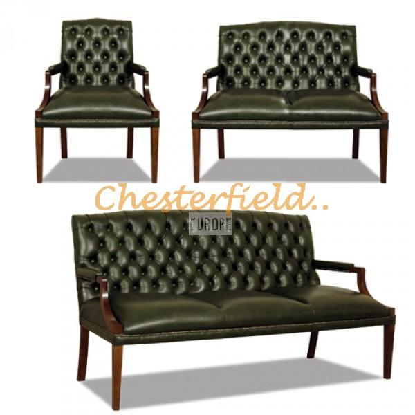 King 321 Antikgruen Chesterfield Garnitur - TheChesterfields.de