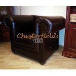 London Antikbraun (A5) COLA Chesterfield Sessel