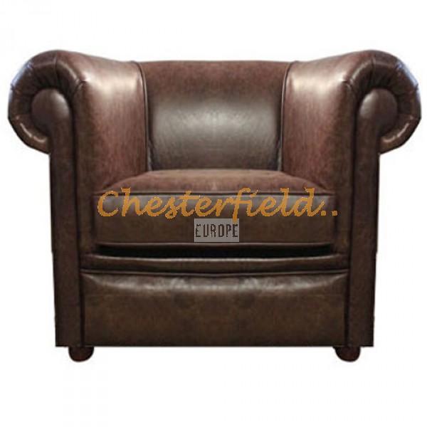 London XL Chesterfield Sessel Antikbraun