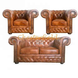 Lord 211 Antikgold Chesterfield Garnitur
