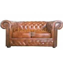 Lord Antikgold 2-Sitzer Chesterfield Sofa