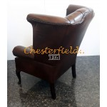 Queen Antikbraun (A5 Mitte) Chesterfield Ohrensessel