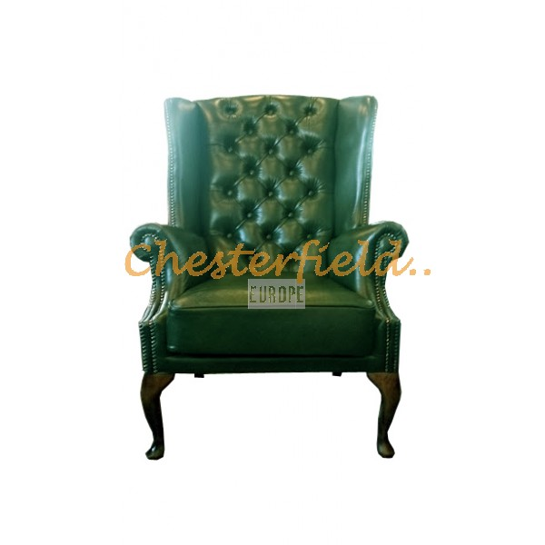 St. James Antikgrun (A8) Chesterfield Ohrensessel