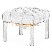 Taboret Chesterfield Hocker (2)