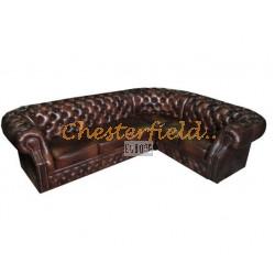 Windsor 3+2 Antikbraun Chesterfield Ecksofa 265x220