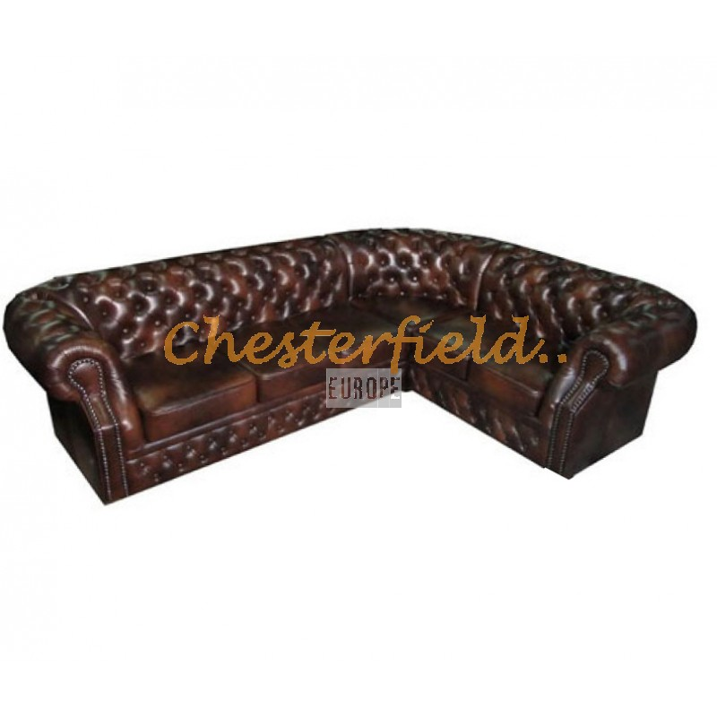 Chesterfield Ecksofa 3 2 antikbraun chesterfield ecksofa