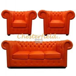 Classic 311 Orange Chesterfield Garnitur
