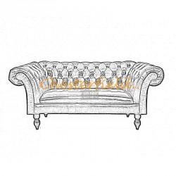 Bestellung Diva 2-Sitzer Chesterfield Sofa in anderen Farben