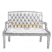King 2er Chesterfield Sofa (2)