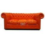 Classic Orange 3-Sitzer Chesterfield Sofa - TheChesterfields.de
