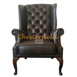 St. James Antikbraun (A5) Chesterfield Ohrensessel