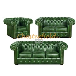 Classic 321 Antikgruen Chesterfield Garnitur