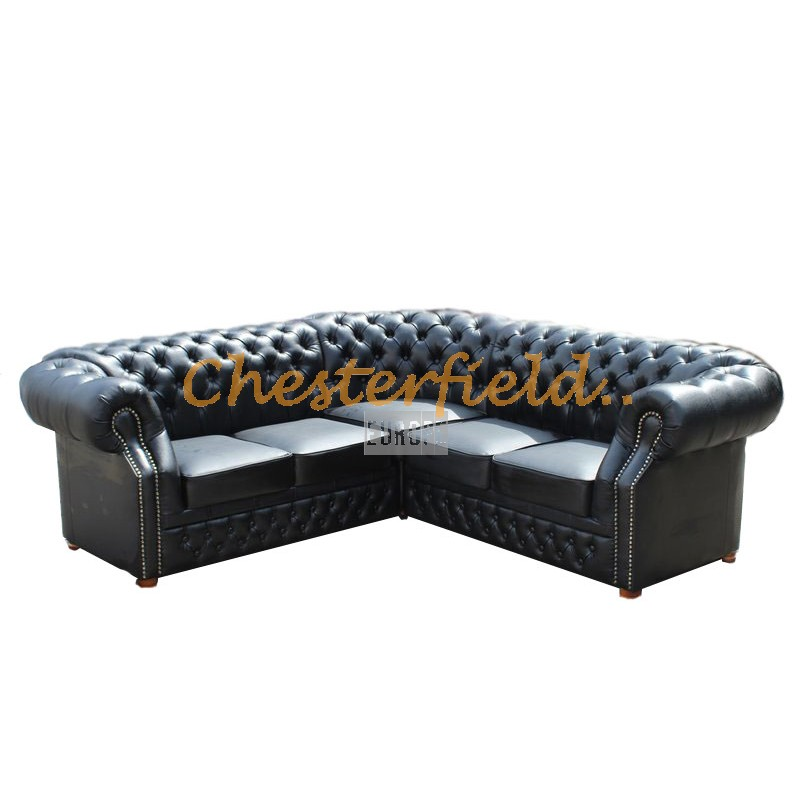 Chesterfield Ecksofa 2 2 schwarz chesterfield ecksofa