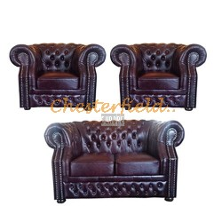 Windsor 211 Antikrot Chesterfield Garnitur