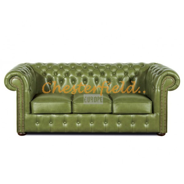 Classic Olive 3-Sitzer Chesterfield Sofa - TheChesterfields.de
