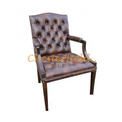 King  Antikbraun (A5) Chesterfield Armstuhl