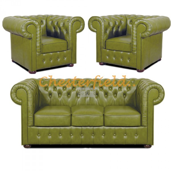 Mark 311 Olive Chesterfield Garnitur