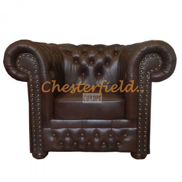 Lord XL Antikbraun Chesterfield Sessel