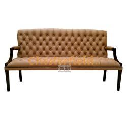 King Cappucchino 3-Sitzer Chesterfield Sofa