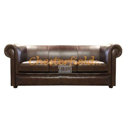 London Antikbraun 3-Sitzer Chesterfield Sofa