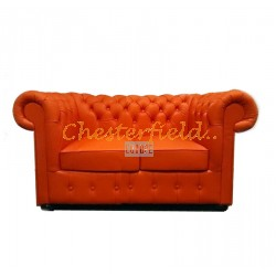Classic Orange 2-Sitzer Chesterfield Sofa
