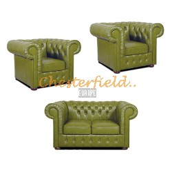 Mark 211  Olive Chesterfield Garnitur