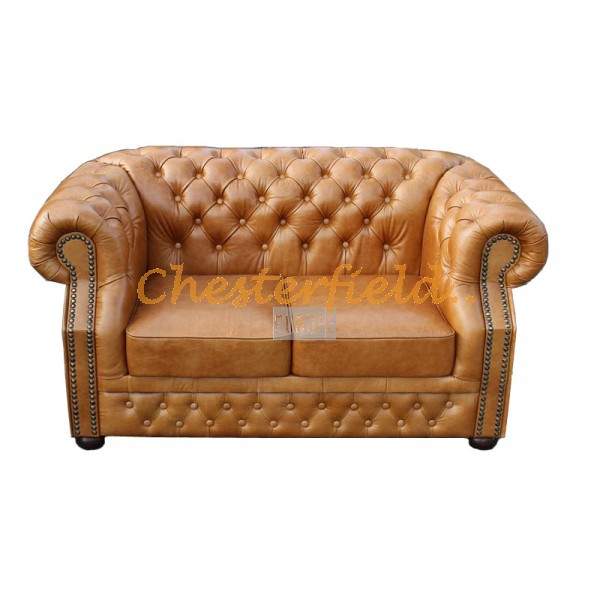 Windsor XL Antikwhisky 2-Sitzer Chesterfield Sofa