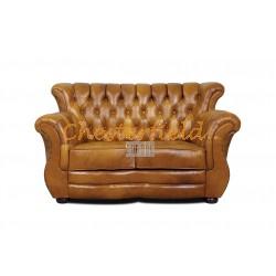 Monk Antikgold 2-Sitzer Chesterfield Sofa