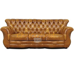 Monk Antikgold 3-Sitzer Chesterfield Sofa