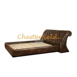 Chesterfield Oxford Bett 160x200 Antikbraun