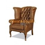 Queen Antikgold (S12) Chesterfield Ohrensessel