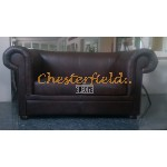 London Antikbraun 2-Sitzer Chesterfield Sofa