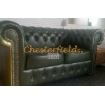 Classic 31 Antikgruen Chesterfield Garnitur