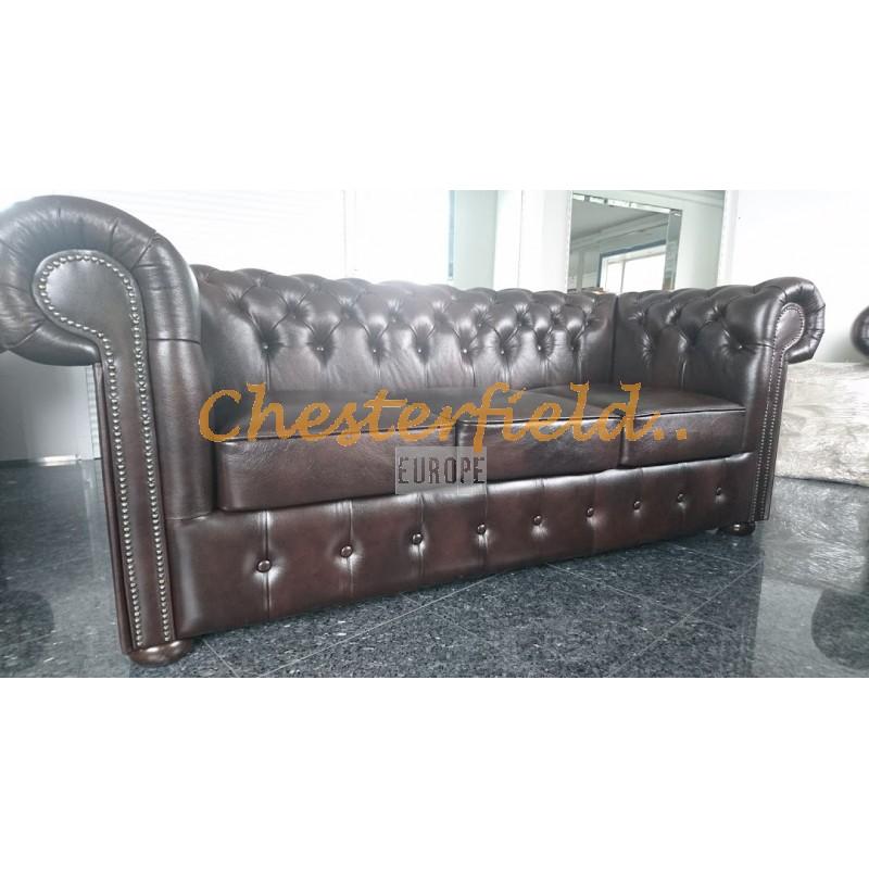 Classic Antikbraun 3-Sitzer Chesterfield Sofa