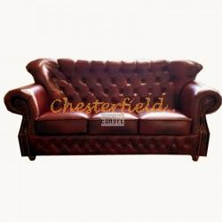 Monk Antikrot 3-Sitzer Chesterfield Sofa