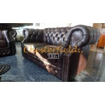 Windsor 211 Antikbraun Chesterfield Garnitur
