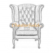 Queen Chesterfield Ohrensessel (6)